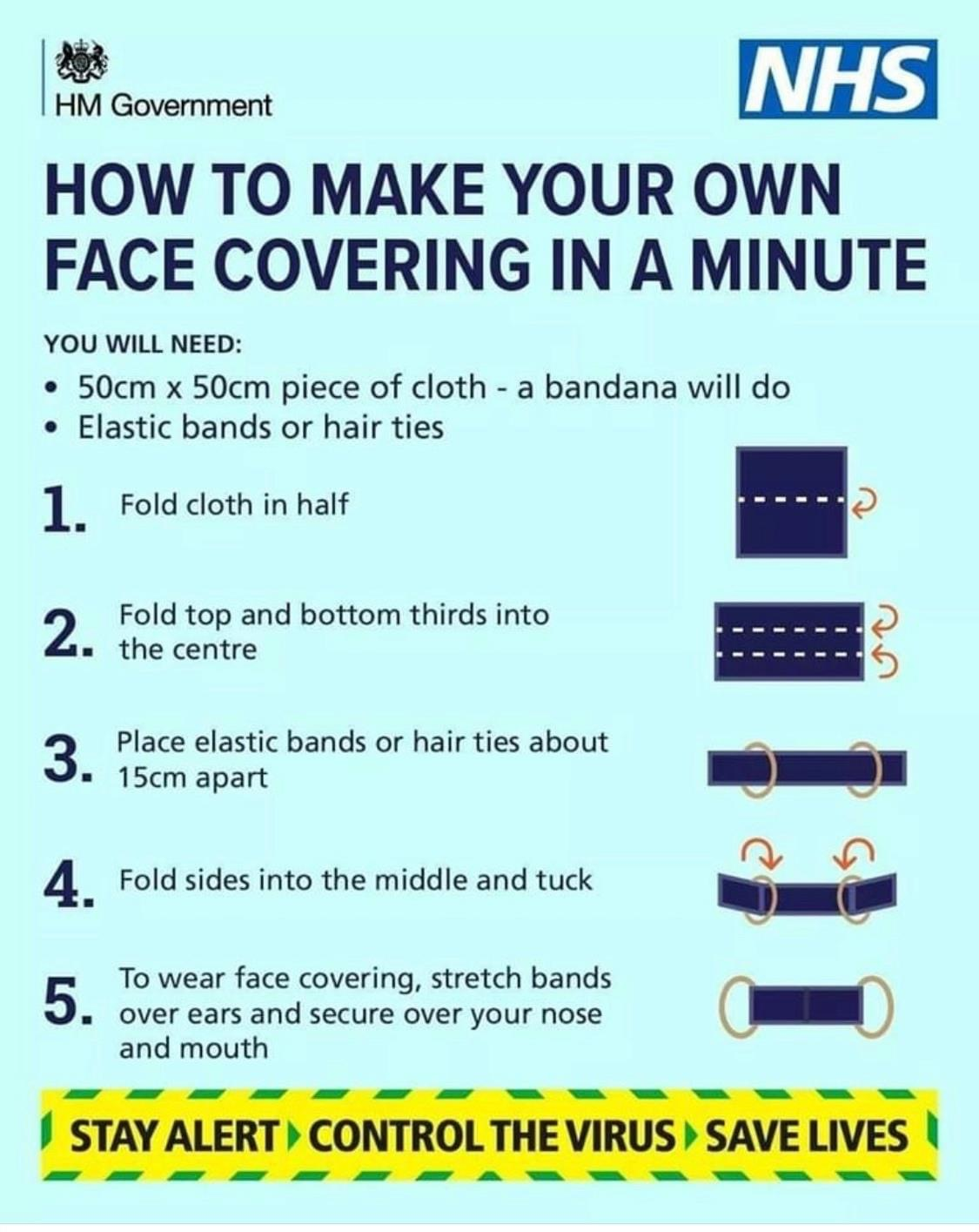 Make own face covering